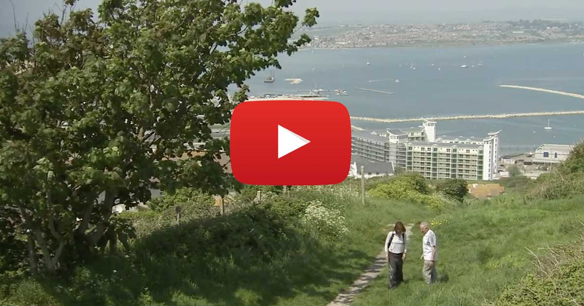 Julia Bradbury Walks The Rodwell Trail Weymouth to Portland