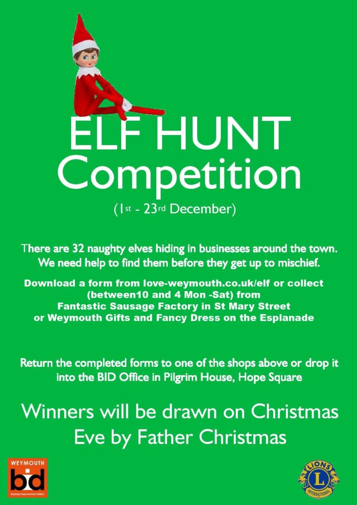 Details of Weymouth Elf Hunt 2018 Click to Download Entry Form