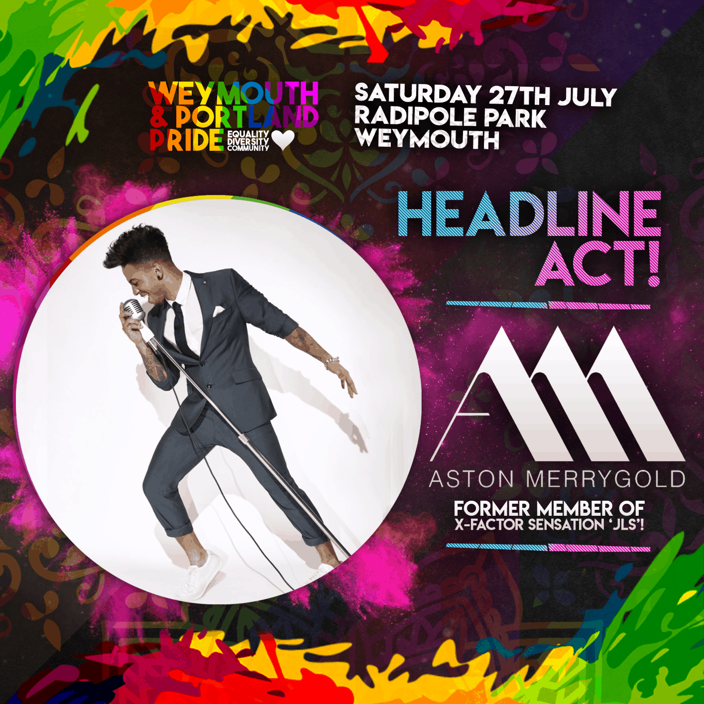 Weymouth & Portland Pride Main Stage Headline Acts Announced